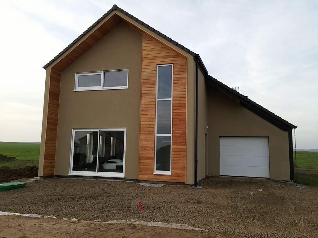 Cattenom r 1 147m2 maison ossature bois for Maison construction