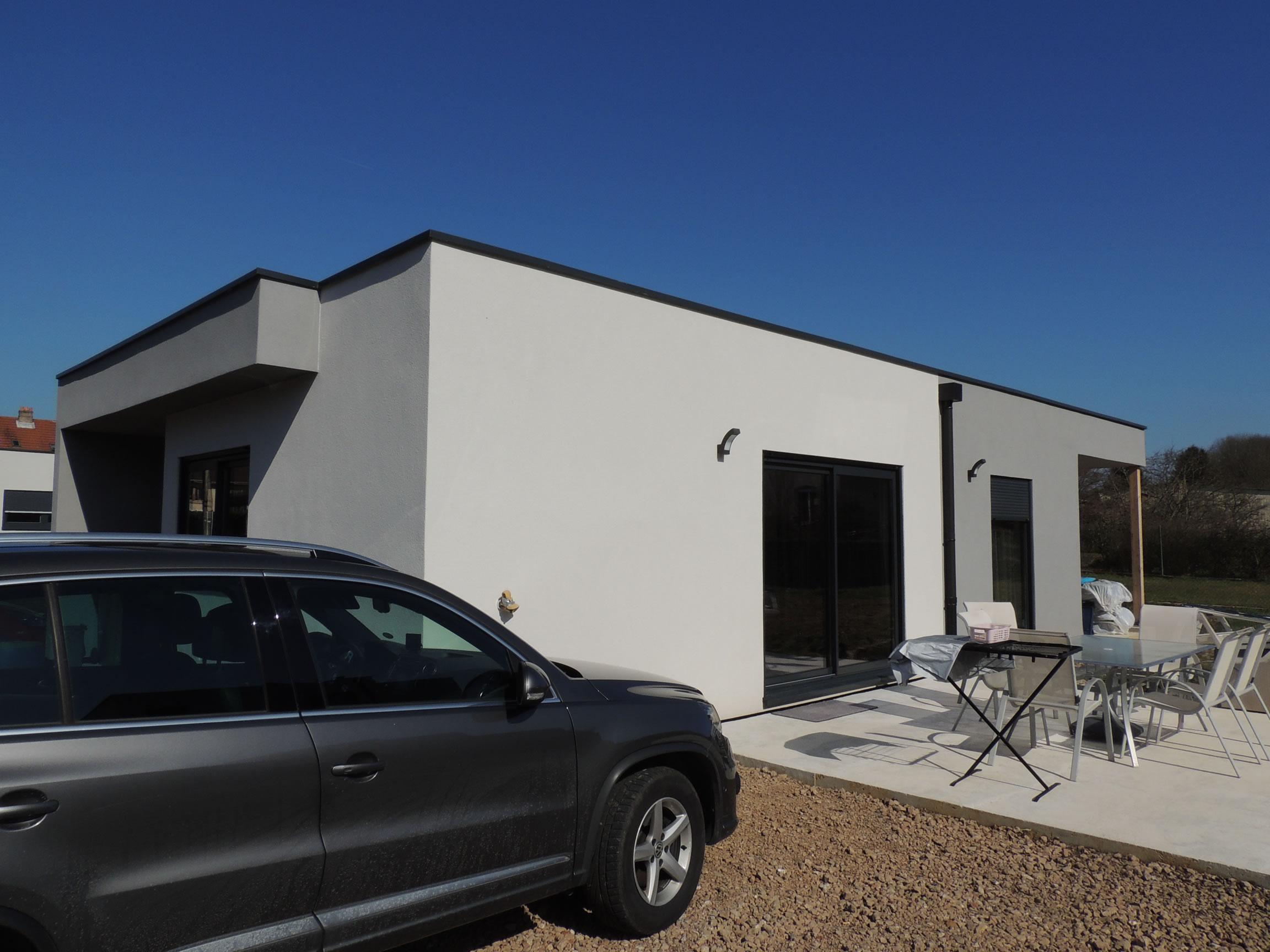 Knutange rdc 150 m2 maison ossature bois for Prix construction m2 2015