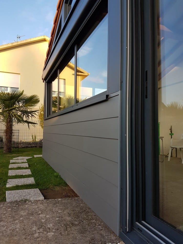 extension ossature bois bardage composite 15 m2. Black Bedroom Furniture Sets. Home Design Ideas