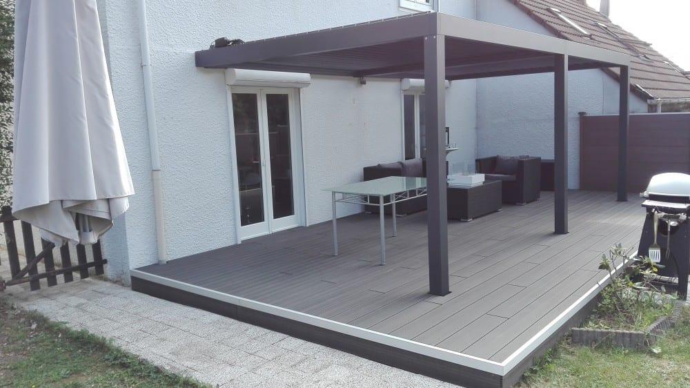 terrasse bois composite 32 m2. Black Bedroom Furniture Sets. Home Design Ideas