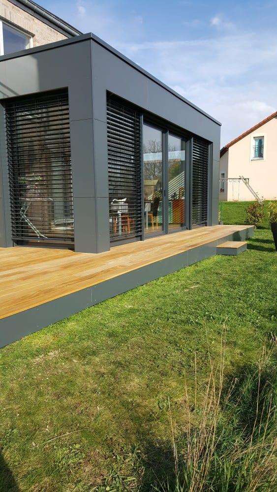 tecnhome - terrasse bois exotique - beyren les sierck - moselle - lorraine