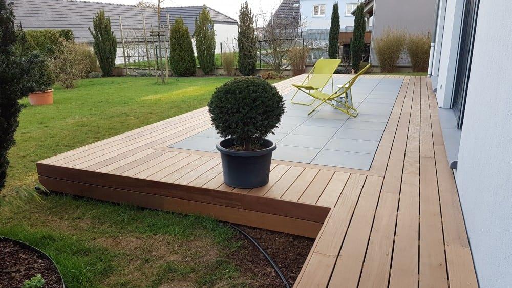 Tecnhome- Terrasse Bois Exotique - IPE - 45m² - Lexy - Meurthe et moselle - Moselle - Lorraine