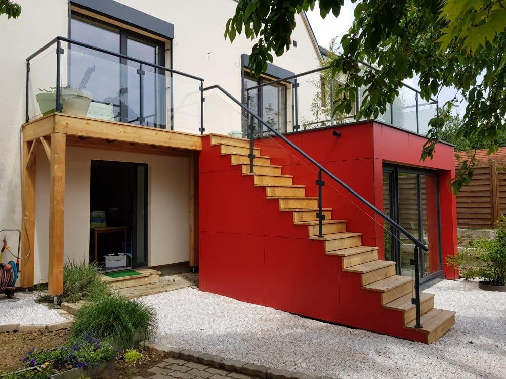 Tecnhome - Terrasse pilotis - 19 m² - Metz - Moselle -Lorraine