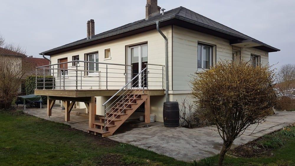 Tecnhome - Terrasse sur pilotis - Bois - Cumaru - 16m² - Richemont - Thionville - Metz - Moselle - Lorraine - Luxembourg