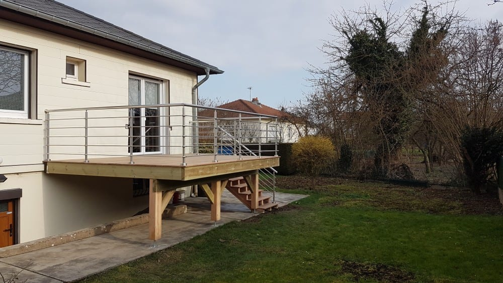 terrasse sur pilotis bois cumaru 16m. Black Bedroom Furniture Sets. Home Design Ideas