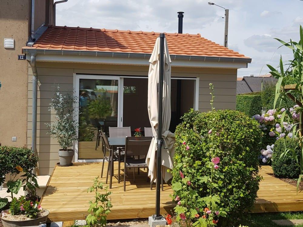 Tecnhome - Extension Ossature bois - 33m² - Réhon - Meuse - Moselle -Lorraine - Luxembourg