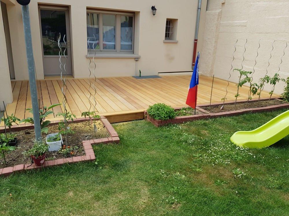 Tecnhome - Terrasse Bois Exotique - Garapa - 24 m² - Sentzich - Moselle - Lorraine