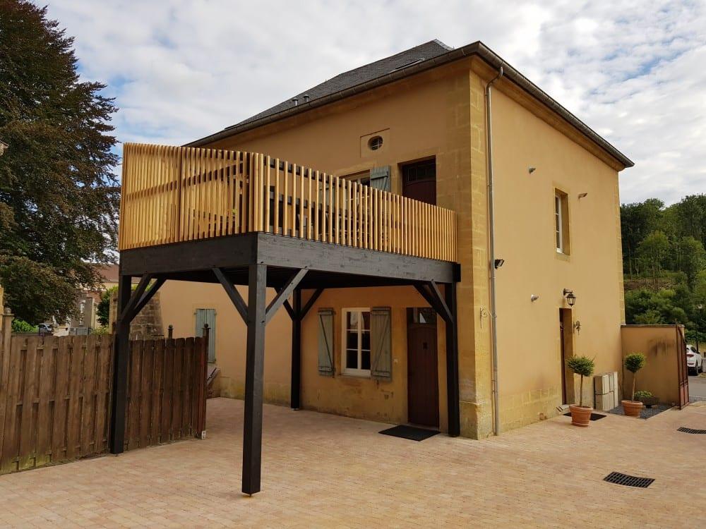 Tecnhome - Terrasse sur pilotis - Bois - Cumaru - 20m² - Cons la Grandville - Thionville - Metz - Moselle - Lorraine - Luxembourg