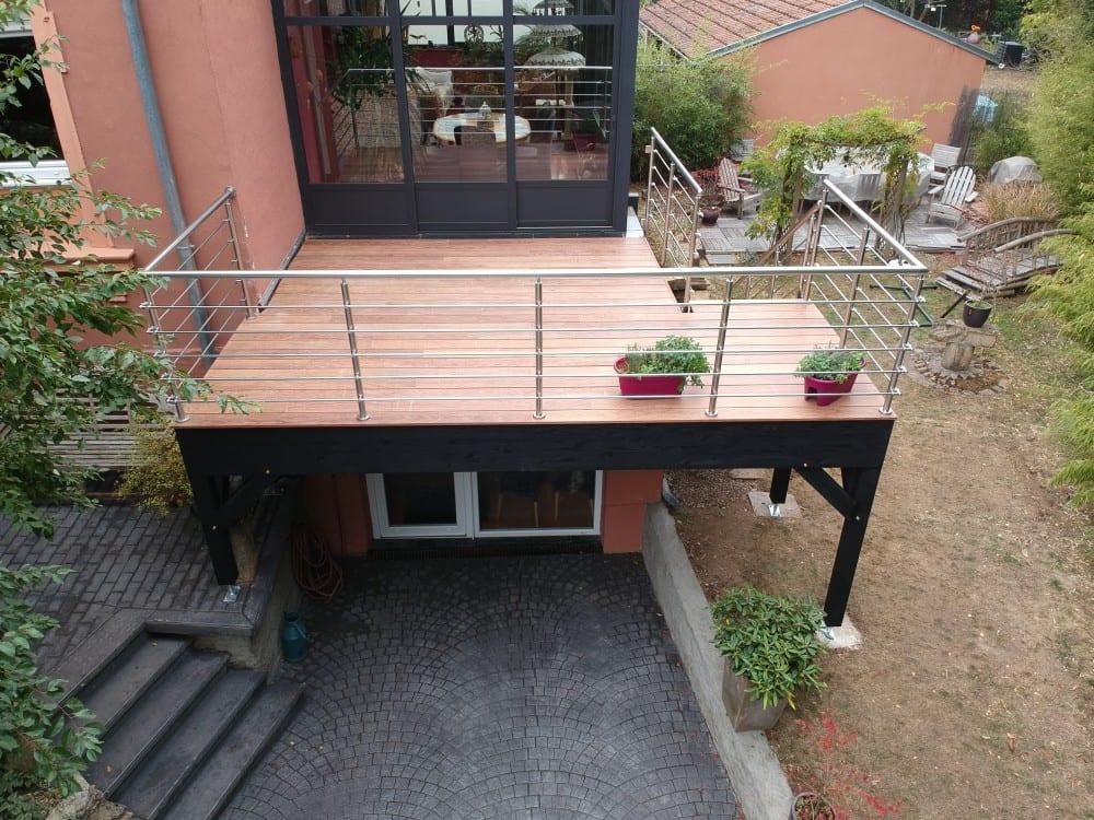 Tecnhome - Terrasse sur pilotis - Bois - Cumaru - 8m² -Yutz - Thionville - Metz - Moselle - Lorraine