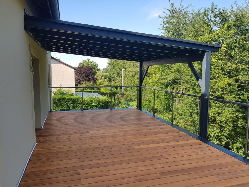 Tecnhome - Terrasse sur pilotis - Bois - Cumaru - 36m² - Volmeranges les mines - Thionville - Metz - Moselle - Lorraine - Luxembourg