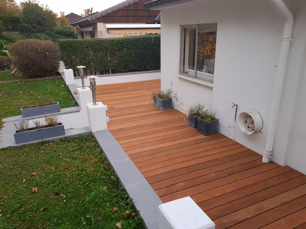 Tecnhome - Terrasse sur pilotis - Bois - IPE - 40m² - Rozerieulles - Thionville - Metz - Moselle - Lorraine - Luxembourg