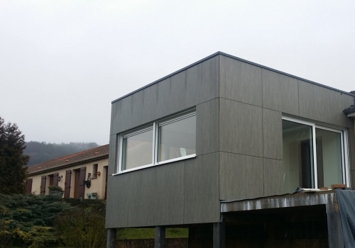 Extension – Ossature bois – 30m2 – Bardage composite