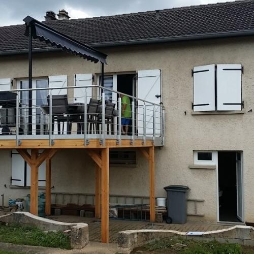 tecnhome-terrasse suspendue - 2.50 m - composite upm - 22m2 - gavisse - moselle - lorraine
