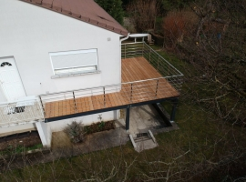 Terrasse sur pilotis Bois Exotique – Garapa – 40 m²