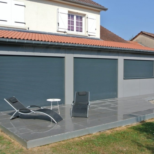 tecnhome-extension bardage composite ossature bois - terrasse gres cerame-40-m2-thionville - moselle-lorraine