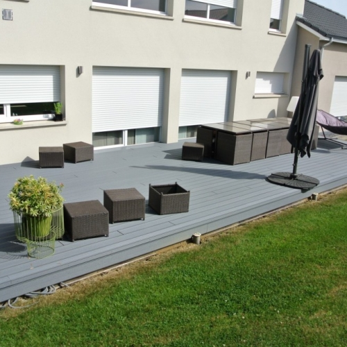 tecnhome terrasse bois composite upm gris 45m2 kanfen moselle lorraine. Black Bedroom Furniture Sets. Home Design Ideas