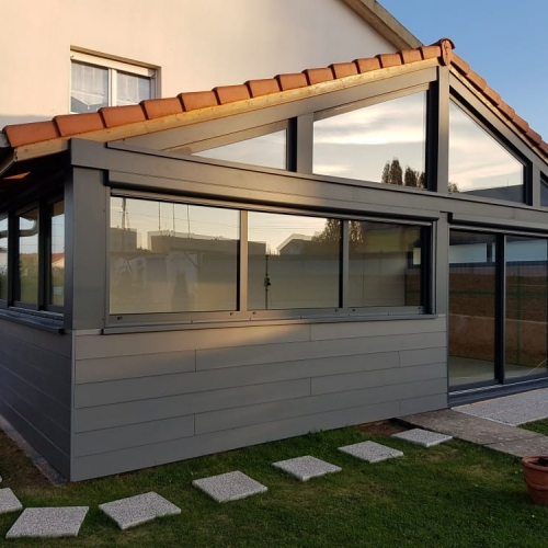Extension Ossature Bois Bardage Composite 15 M2