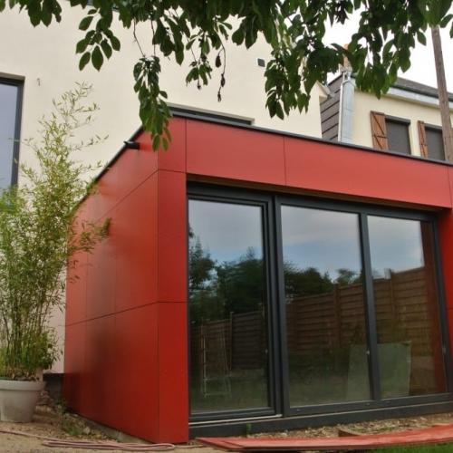 Tecnhome - Extension Ossature bois - 28 m² - Metz - Moselle -Lorraine