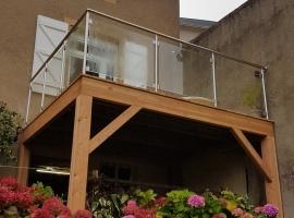 Terrasse Suspendue Bois – Mélèze – 11m²
