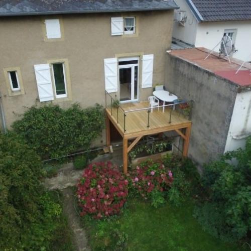 Tecnhome - Terrasse pilotis Bois - Mélèze - 11m² - Hayange - Moselle - Lorraine
