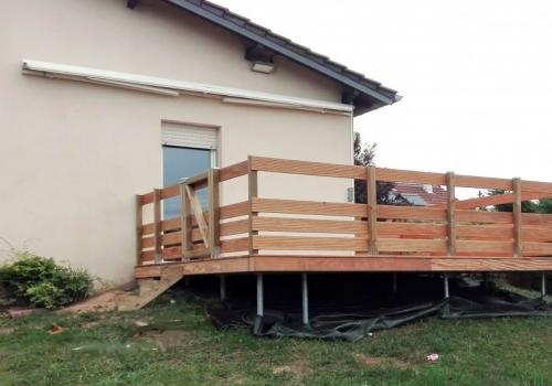 Terrasse Suspendue Bois Exotique – Garapa – 30 m²
