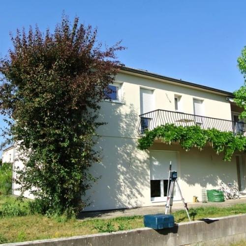 Tecnhome- Terrasse-sur pilotis- Bois Exotique Cumaru - 90m2 - Thionville - Moselle - Lorraine
