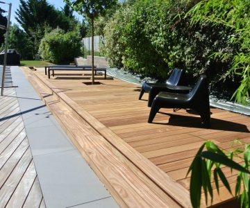 Terrasse Bois Exotique Cumaru – 40 m2