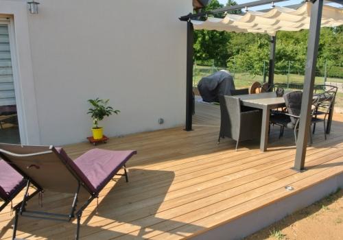 Terrasse bois Mélèze – 35 m2 – Florange