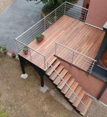 Terrasse sur Pilotis Bois – Cumaru – 8m²