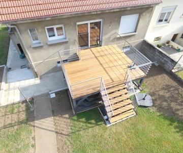 Terrasse sur Pilotis Bois – Ipe – 20m²