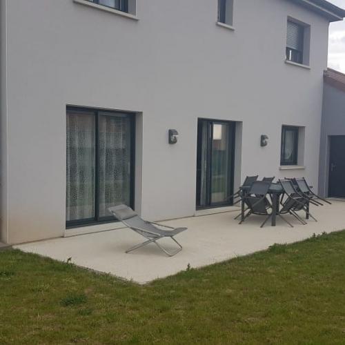 Tecnhome - Terrasse sur pilotis - Bois - IPE - 36m² - Avril - Thionville - Metz - Moselle - Lorraine - Luxembourg