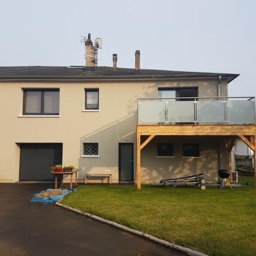 Tecnhome - Terrasse sur pilotis - Bois - Mélèze - Thionville - Moselle - Lorraine - Luxembourg