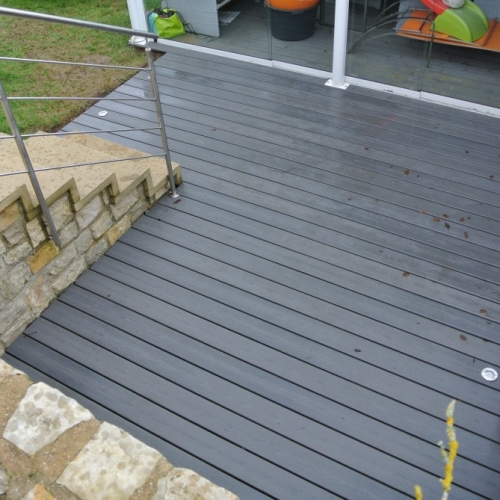 Tecnhome - terrasse bois composite - Hautcharage - Luxembourg