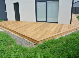 Terrasse Bois Exotique Garapa – 70 m2