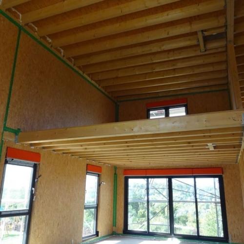 maison construction ossature bois Malling R+1-152m2
