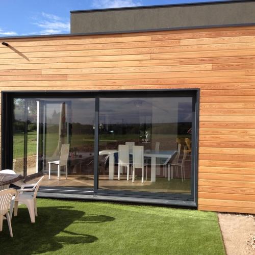 Argancy r 1 160m2 maison ossature bois for Maison moderne 160m2
