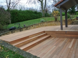 Terrasse Bois Exotique Bankirai- 70 m2 – Pange