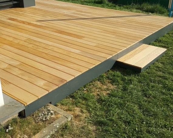 Terrasse Bois Exotique Garapa – 30 m2 – Beyren lès Sierck
