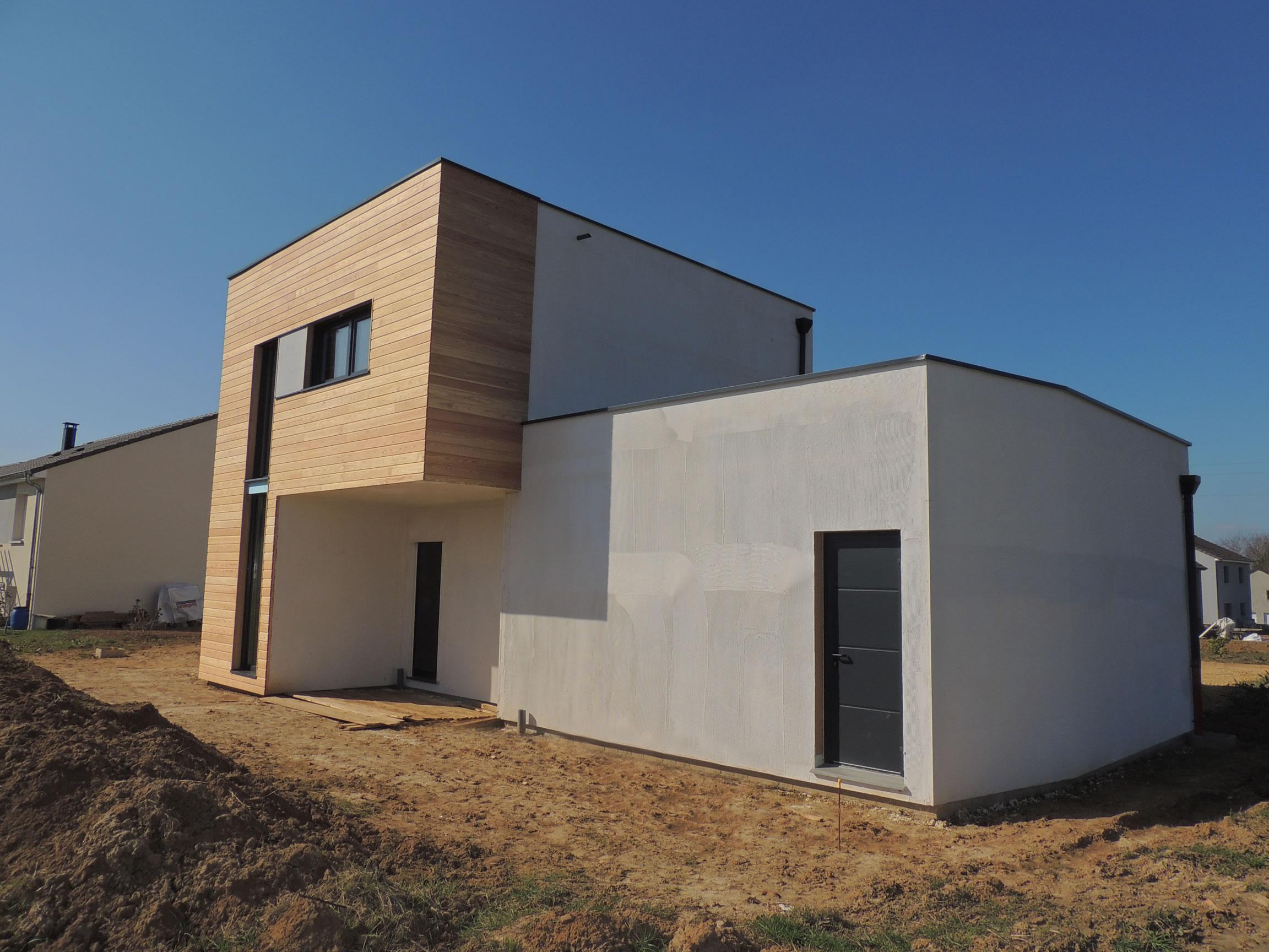 Petite hettange r 1 145m2 maison ossature bois for Construction petite maison