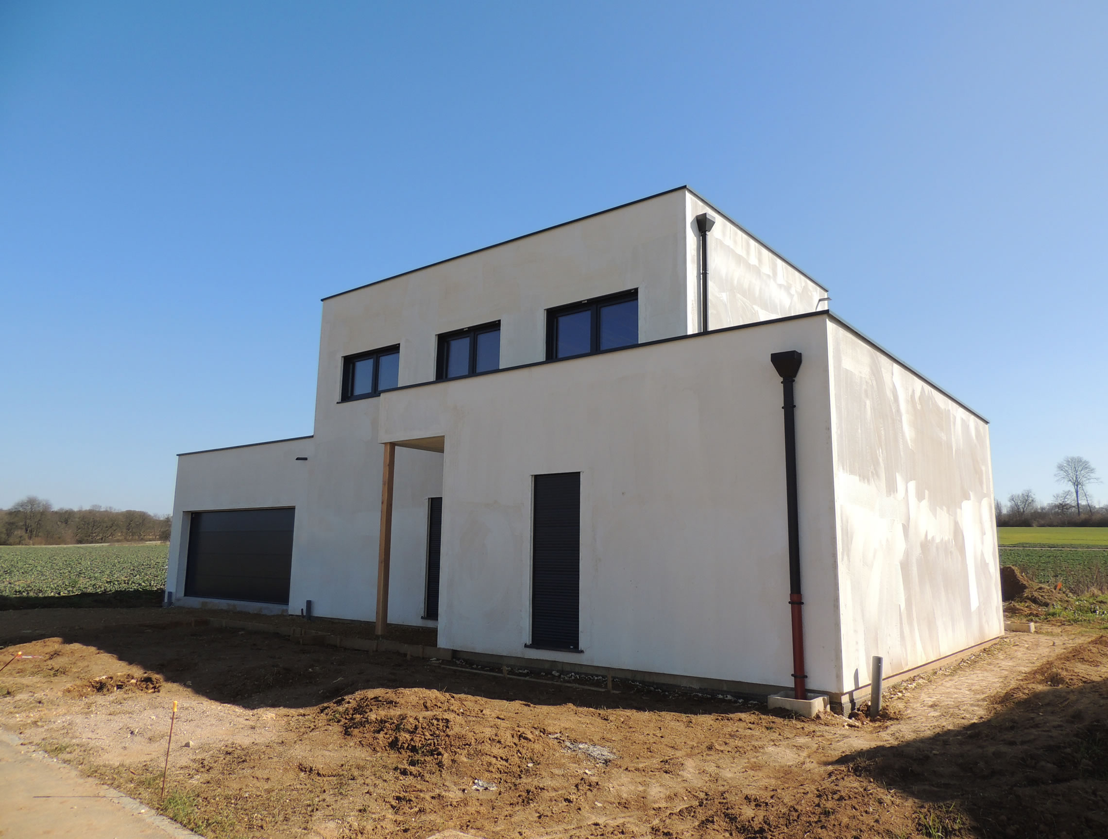 Petite hettange r 1 145m2 maison ossature bois for Petite maison construction