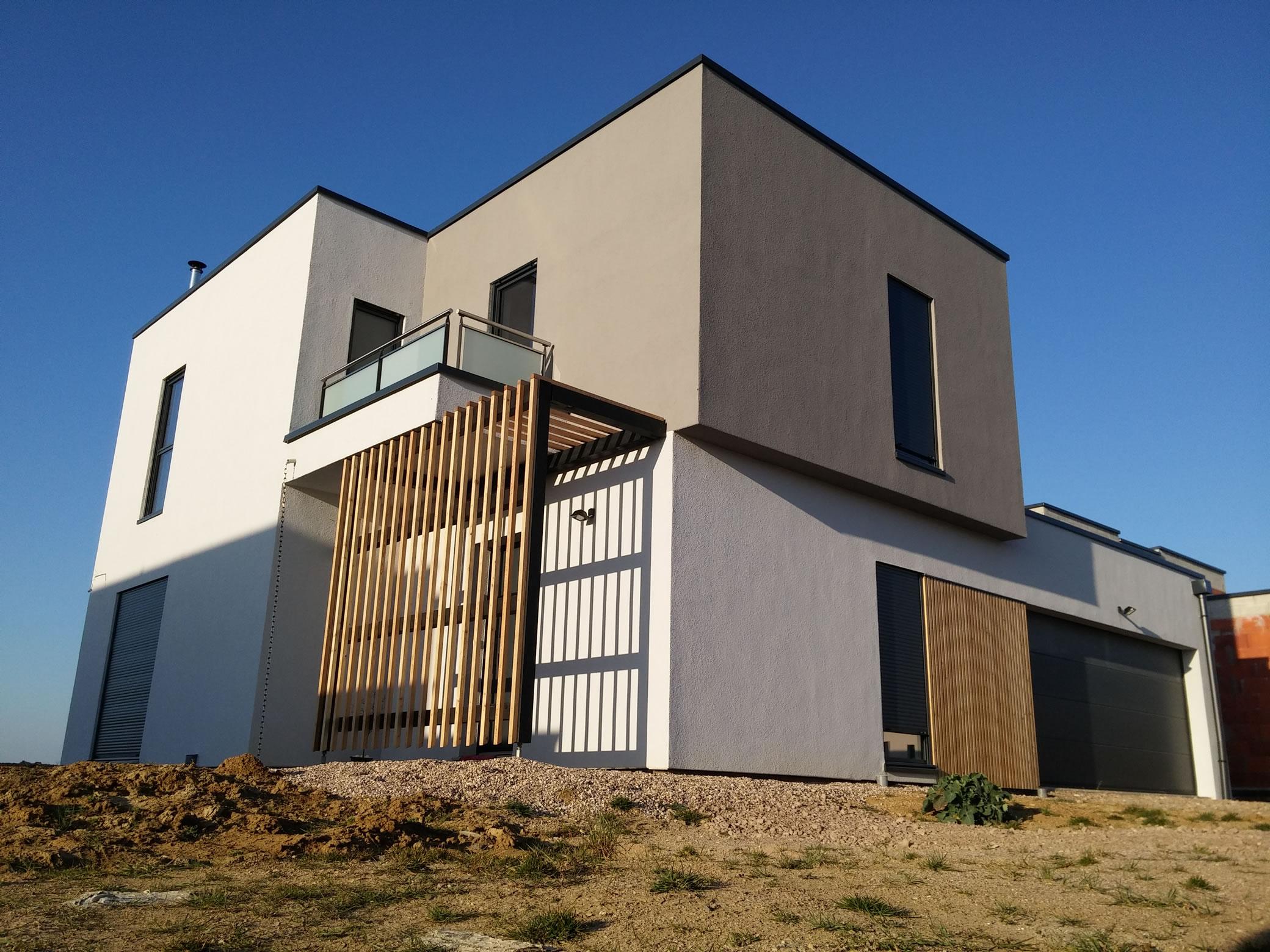 Cuvry r 1 147m2 maison ossature bois for Maison structure bois