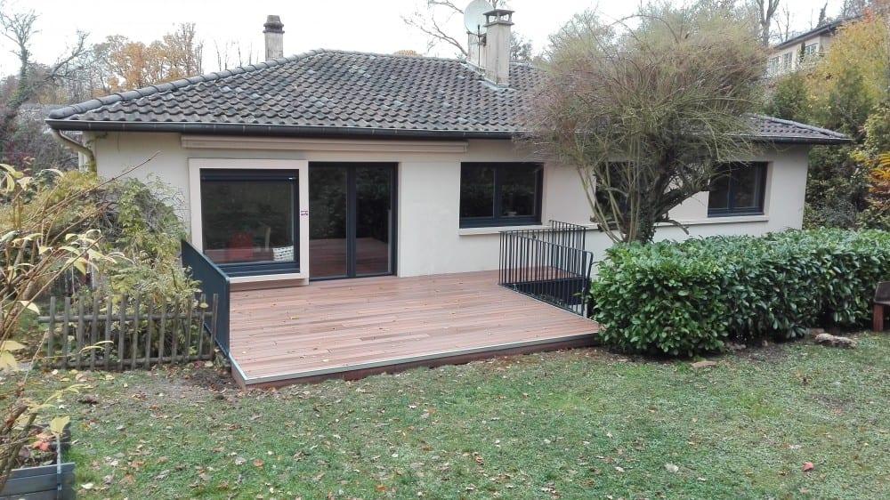 terrasse bois 24m2. Black Bedroom Furniture Sets. Home Design Ideas