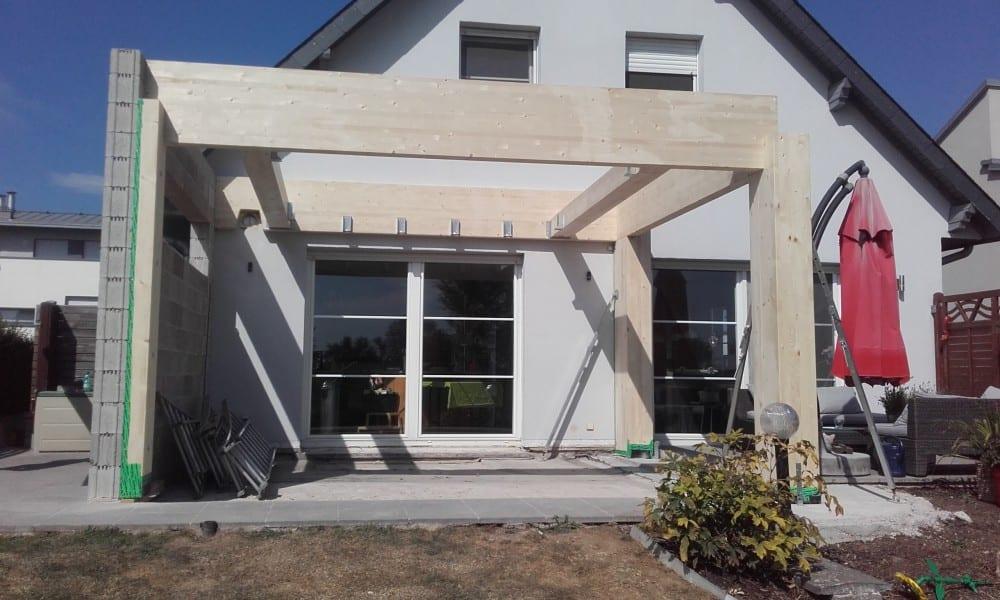 extension ossature bois bardage composite 28 m2. Black Bedroom Furniture Sets. Home Design Ideas