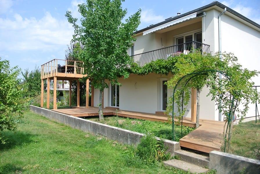 Tecnhome Terrasse Suspendue Hauteur Bois Manom Thionville Metz