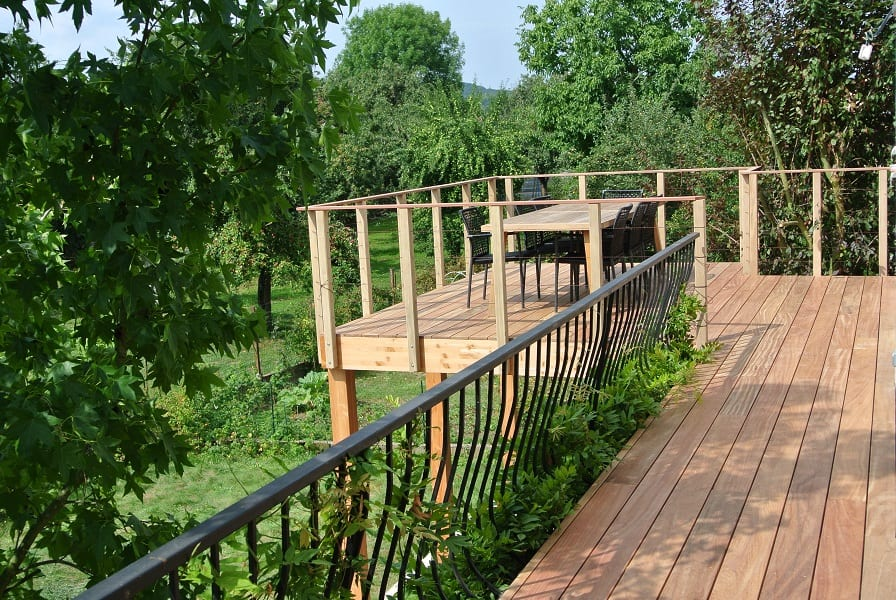 Tecnhome Terrasse Suspendue Hauteur Bois Manom Thionville Metz Moselle Meurthe Et Moselle