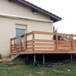 Tecnhome - Terrasse suspendue bois Exotique - Garapa - 30 m² - Hestroff - Moselle - Lorraine