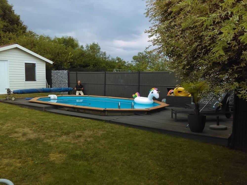Tecnhome-Terrasse Bois Composite - 36m² - Kanfen - Moselle - Lorraine - Luxembourg