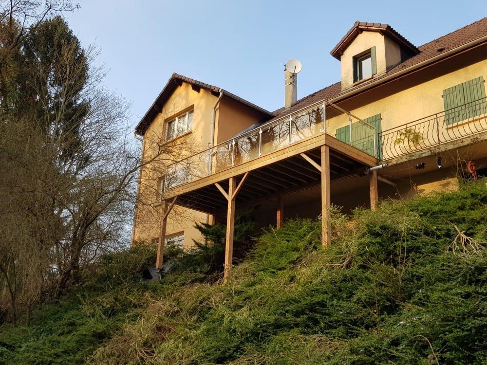 Tecnhome - Terrasse sur pilotis - Bois - Mélèze - 26m² - Rustroff - Thionville - Metz - Moselle - Lorraine - Luxembourg